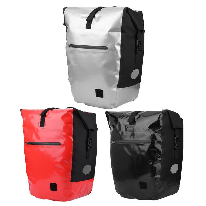 3 colors Mountain Bike Rear Bag Waterproof Pannier Double Side Tail Seat Trunk Bag MTB Road Cycling Rack Bag Cycling Equipment цена 2017