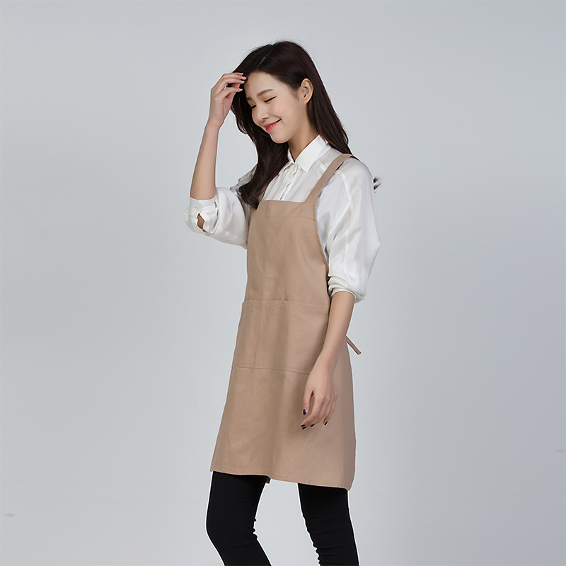 Cotton apron Korean uniforms kitchen coffee shop milk tea nail shop men and women ...