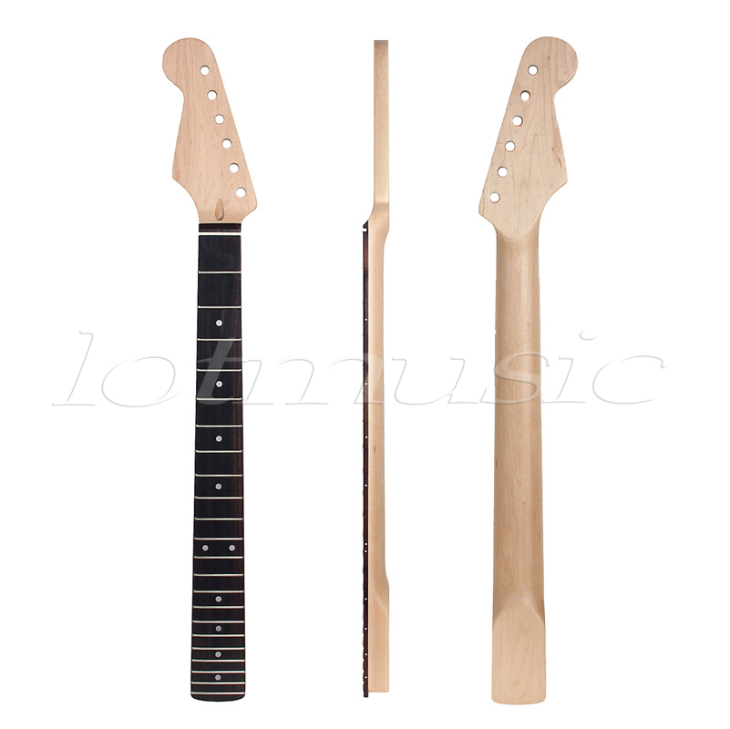 Lefty Left Guitar Neck Rosewood Fingerboard Maple 22 Fret Frets for Electric Guitar Neck Replacement one left unfinished guitar neck electric guitar neck solid wood 22 fret new rosewood fingerboard