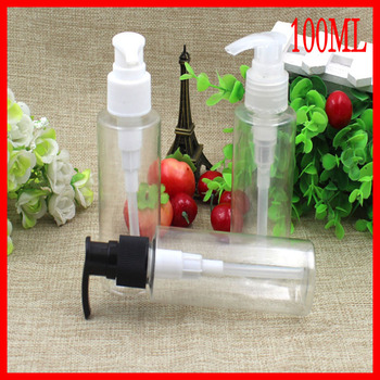 100ML plastic bottle clean suncreen emulsion pressure pump bottle empty makeup  cosmetic container Refillable Bottles Packaging