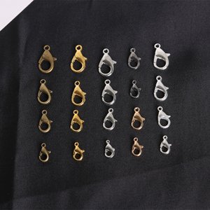 100Pcs Zinc Alloy Lobster Clasp Hooks 10/12/14/16mm Rhodium Bronze Gold Color Claw Clasps Connector Jewelry DIY Jewelry Findings