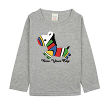 Boys Long Sleeve T Shirts For Children 2017 Autumn Cute Horse T-shirt Cotton 1 -15T Kid Clothing Baby Girls Tops Tees Clothes