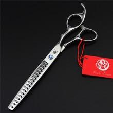7 polegada cão pet desbaste tesoura grooming tesoura profissional pet tesoura de corte cabelo gato alta qualidade dentes tubarão