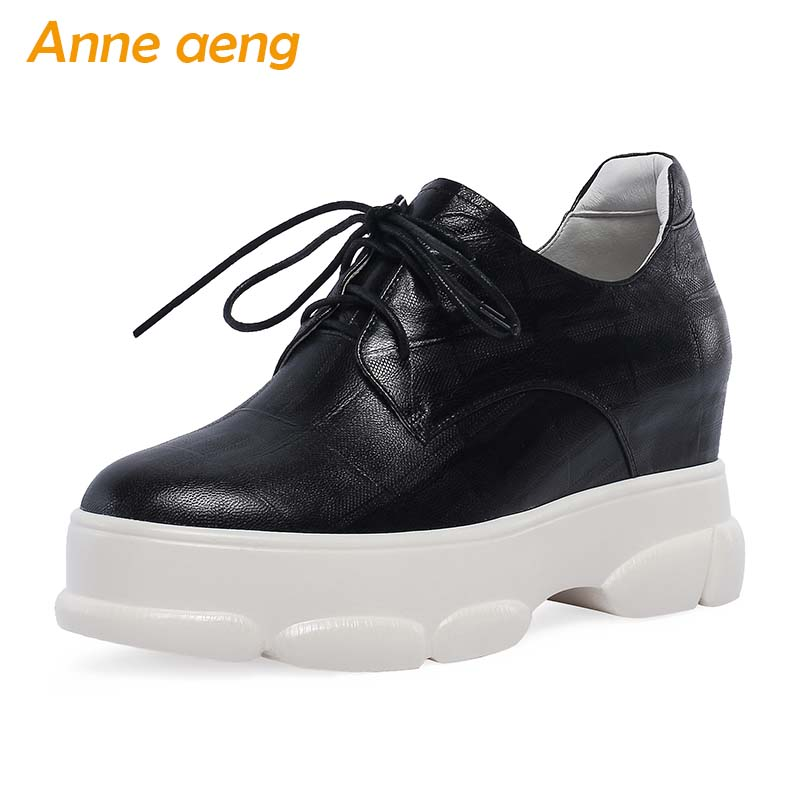 2019 New Spring/Autumn Genuine Leather Women Pumps Sheepskin Increased Internal Heel Lace-Up Fashion Casual Women Platform Shoes2019 New Spring/Autumn Genuine Leather Women Pumps Sheepskin Increased Internal Heel Lace-Up Fashion Casual Women Platform Shoes