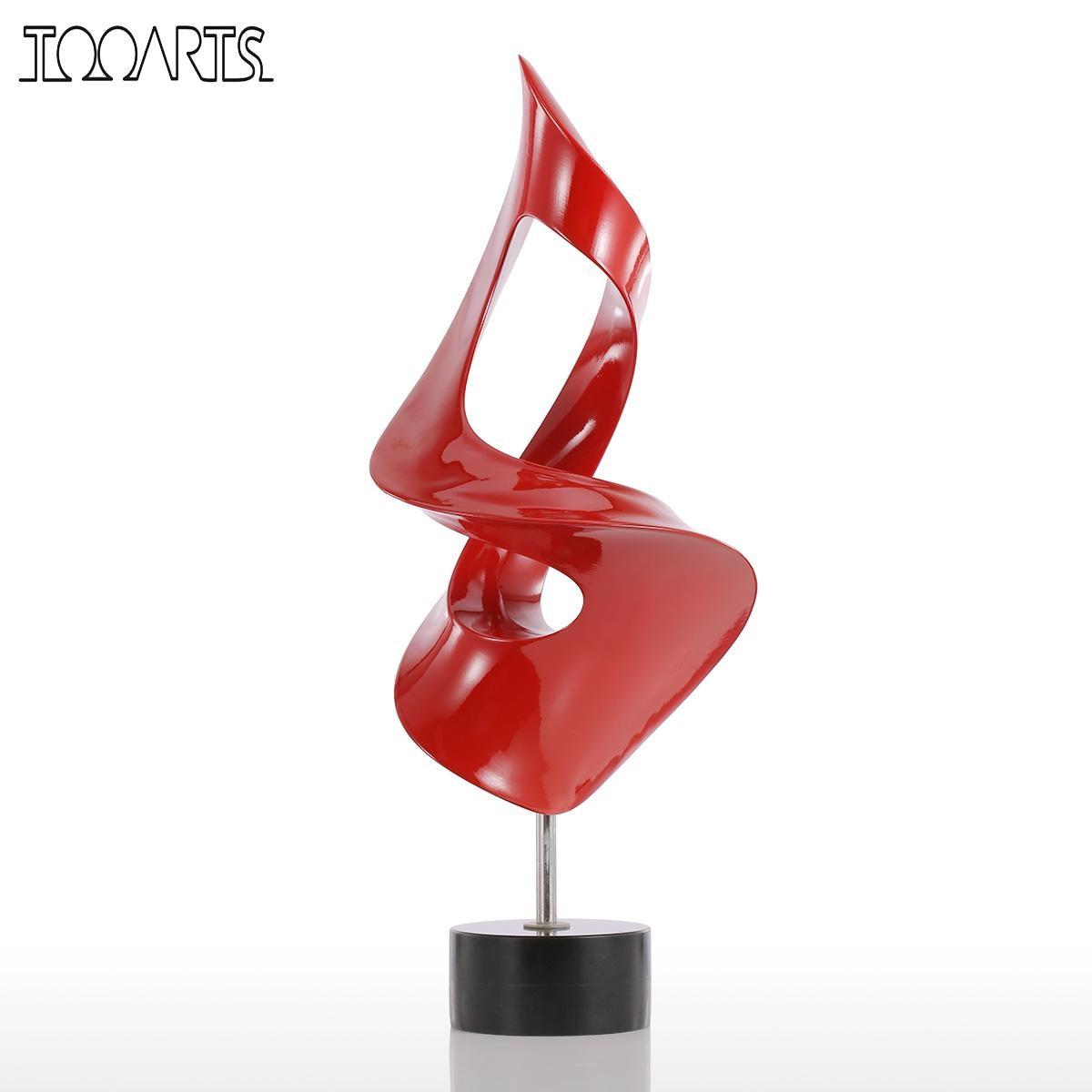 Tooarts Tomfeel antorcha pequeña escultura moderna escultura abstracta escultura de resina decoración del hogar Accesorios decoración miniatura-in Estatuas y esculturas from Hogar y Mascotas    1