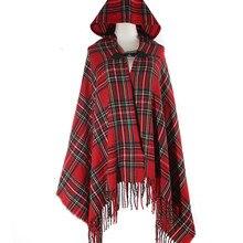 Зимний шарф с этническим принтом, одеяло из пашмины, пончо и накидки, бесконечный шарф, накидка для девочек, кашемировая шапка, шаль, вязаный шарф с капюшоном