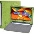 Yoga Tab 3 плюс 10 Цветочный печати случае Флип ИСКУССТВЕННАЯ Кожа крышка ультра-тонкий планшетный дела для Lenovo Yoga Tab3 Плюс 10 Защитная стенд