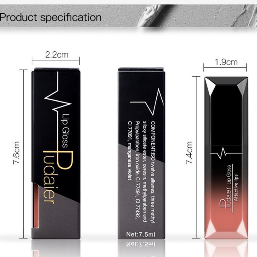 Hot Sales Waterproof Nude Matte Velvet Glossy Lip Gloss Lipstick Lip Balm Sexy Red Lip Tint 21 Colors Women Fashion Makeup Gift 4