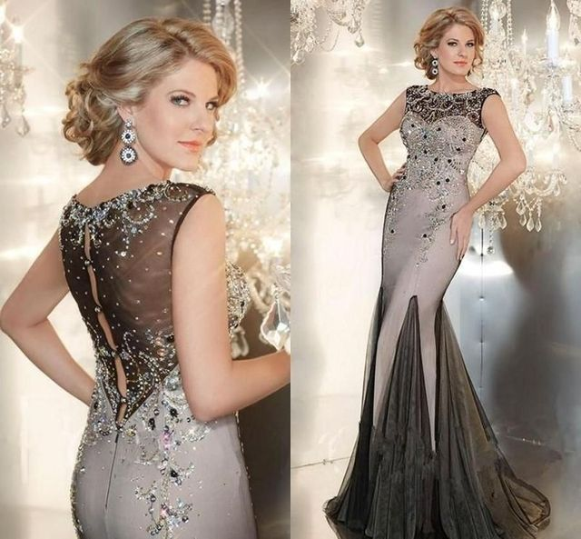 Y Designer Long Evening Gowns Crystals Beaded Dresses 2016 Luxury Mother Of The Bride