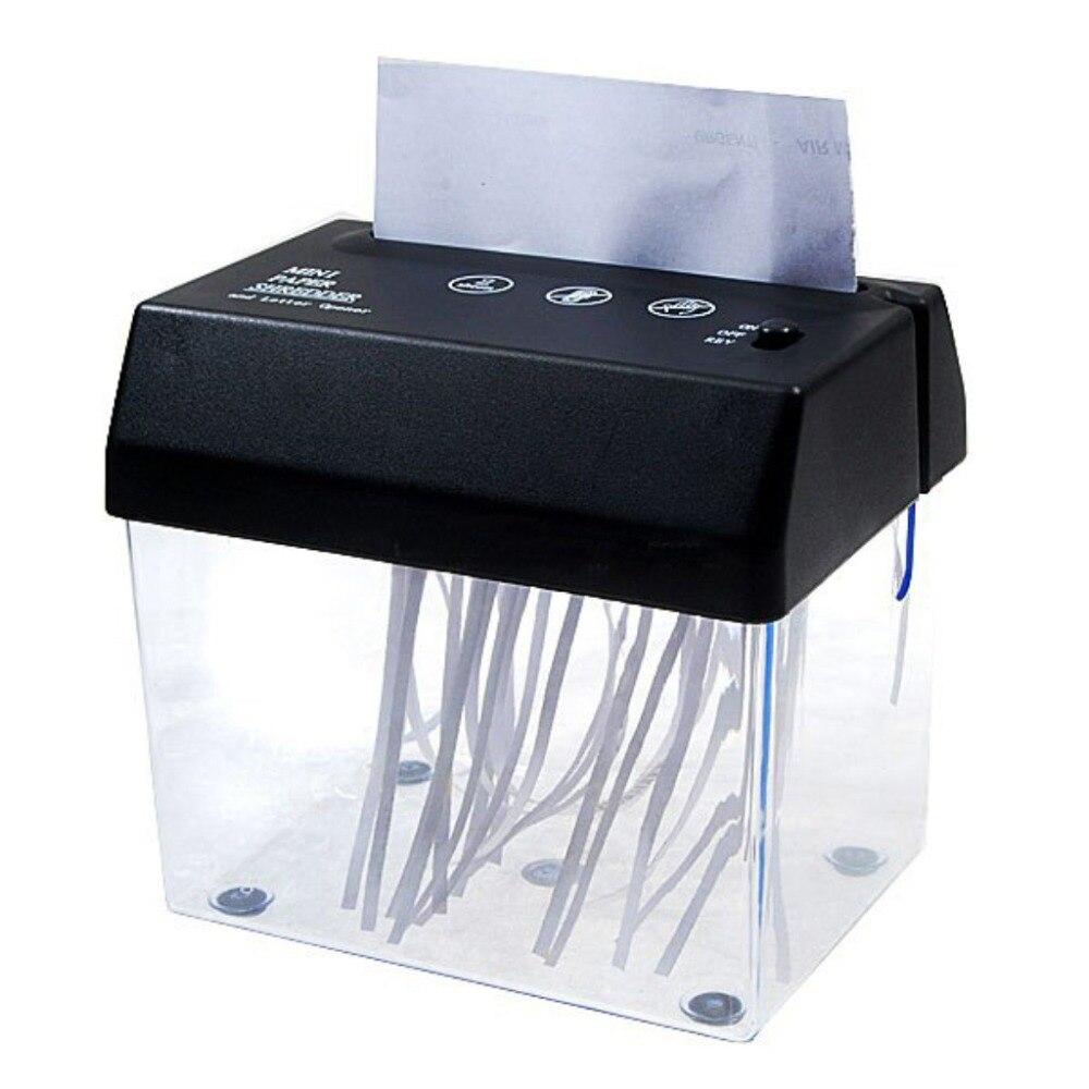 Desktop A5 Or A4 Folded Paper Strip-cut Mini Shredder Small USB Shredder For Home/Office-SCLL usb 4 aa powered mini paper shredder with letter opener