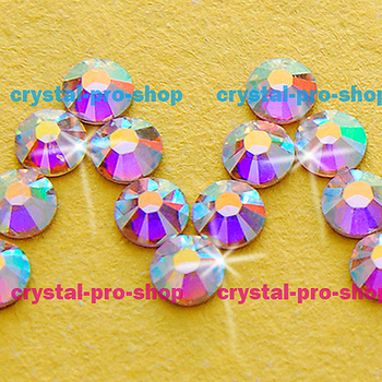 AB Crystal (001AB) Swarovski Elements ss8 ( 2.3-2.5 )mm , 1440 pieces , 8ss 2.6mm ( No-Hotfix ) Flatback Rhinestones Nail