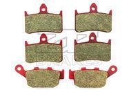 Motorcycle Brake Pads For HONDA NSR 250 RL/RN/RSP 1995 up Front + Rear Carbon Ceramic Composite High Quality