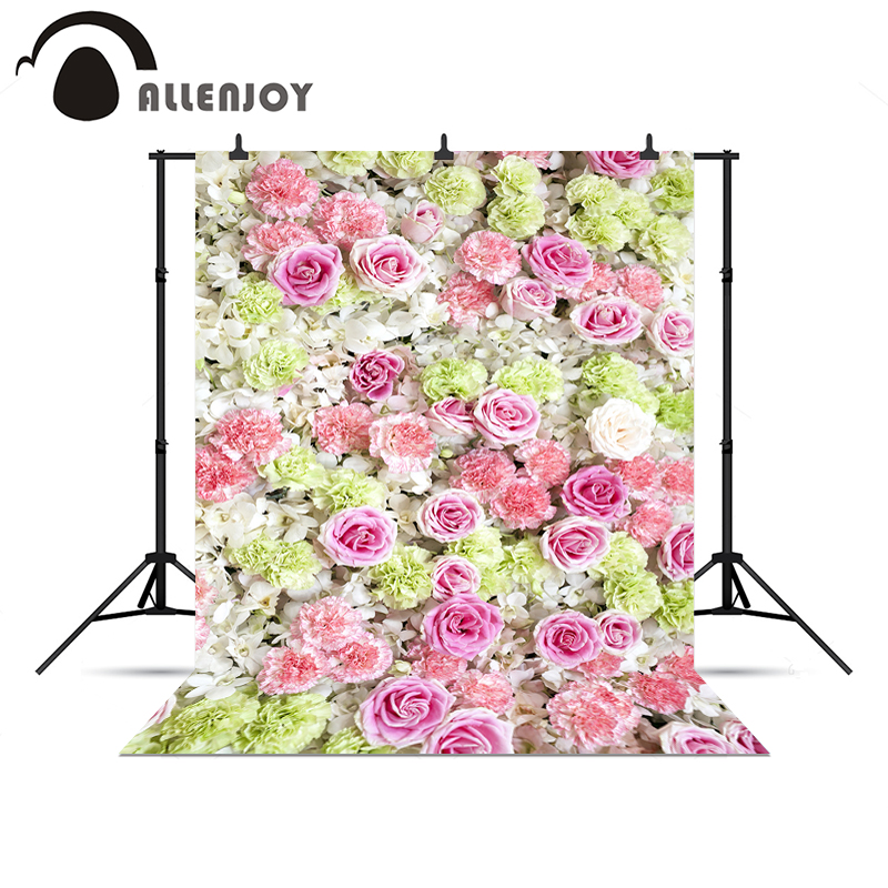 Allenjoy photographic camera Flowers spring fresh wedding love background for photo shoots background backdrops for photography