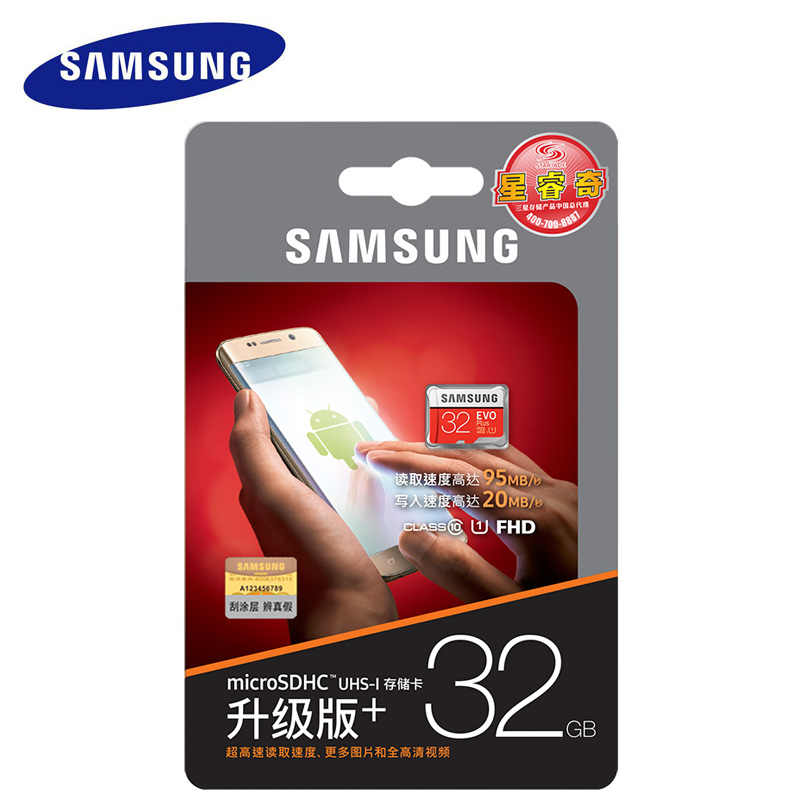 SAMSUNG Micro SD Memory Card 32 GB EVO + Class10 cartao de memoria microsd 32 gb C10 SDHC UHS-I Per Samsung Sony Xiaomi cellulare