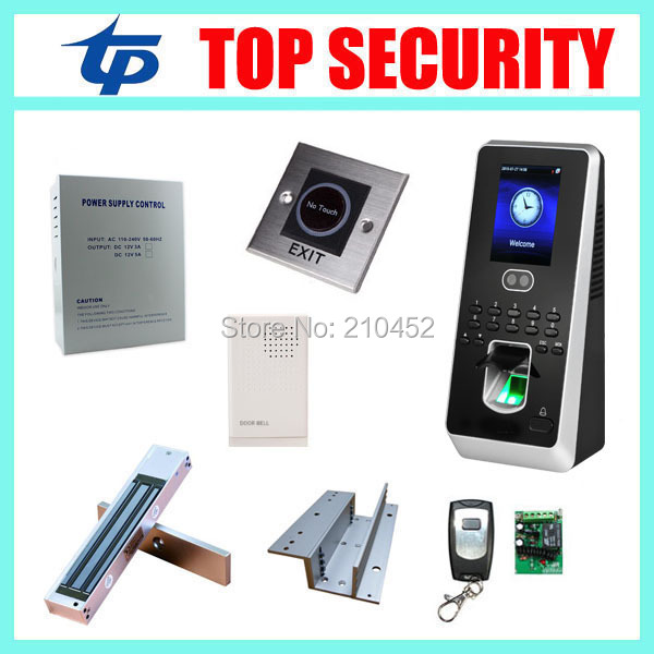 New arrival Multibio800 face and fingerprint door access control system TCP/IP standalone biometric facial access controller Kit tcp ip biometric face recognition door access control system with fingerprint reader and back up battery door access controller
