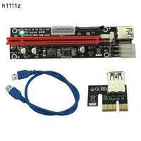100pcs PCI E PCI E Express 1X To 16X Riser Extender Card SATA 15 Pin 6