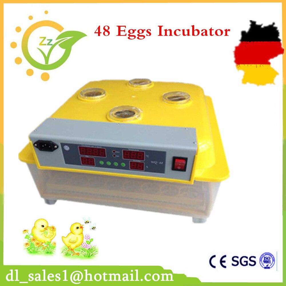 547911372f3af الصين صنع مصغرة 48 حاضنات البيض الدجاج بيع علبة تحكم المحرك التلقائي السمان  آلة حضانة البيض تحول ل بطة