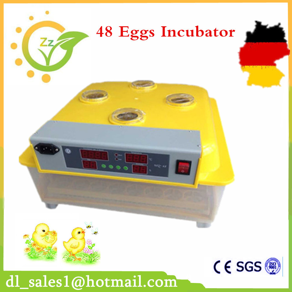 China Made Mini 48 Chicken Egg Incubators Sale Motor Control Tray Automatic Egg Turning For Duck Quail Incubation Machine top sale household farm egg incubators 24 egg incubators for led display turner for sale