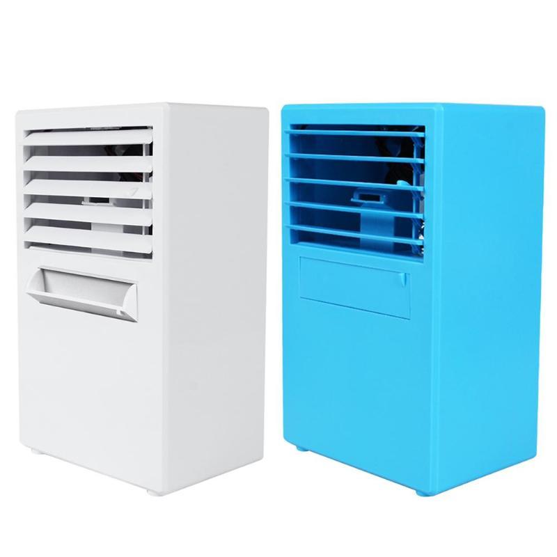Air Cooler third gear adjustable mini desktop air cooler high power air conditioning fan air humidification purifier White EU
