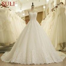 HW091 チャーミング恋人アップリケレースヴィ花嫁のウェディングドレスの王女のウェディングドレスの花嫁衣装vestidosデnoivas