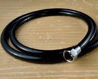 Accesorios de baño de Moda negro G1/2 1.5 M Circular pvc + manguera de la ducha de Tubo de Plata plateado polvo MAIDEER