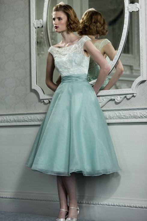 Aliexpress.com : Buy Chic Vintage Mid Calf Lace Evening Dresses ...