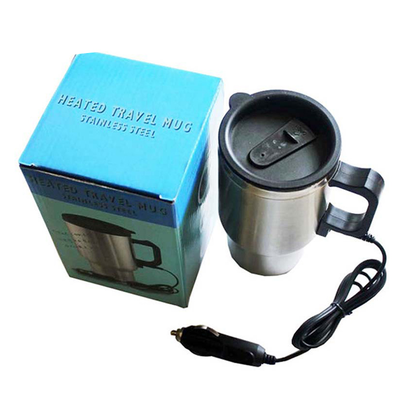 450ml Car Kettle Electric Water Kettle Portable Stainless Steel Cup Thermoses F-Best