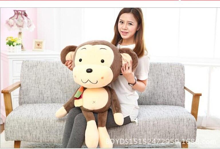 75cm lovely scarf monkey plush toy monkey doll throw pillow birthday gift w6236 70cm lovely monkey plush toy cici monkey doll throw pillow birthday gift w6290