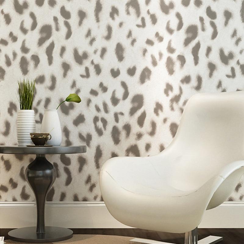 Modern leopard wallpaper 3d embossed mural wall contact for Fur wallpaper room