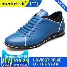 Merkmak Grande Formato 38-48 Uomini Casual Scarpe Scarpe In Pelle di Moda  per Gli Uomini degli uomini di Estate Scarpe Basse Dro. f20bc10dd64