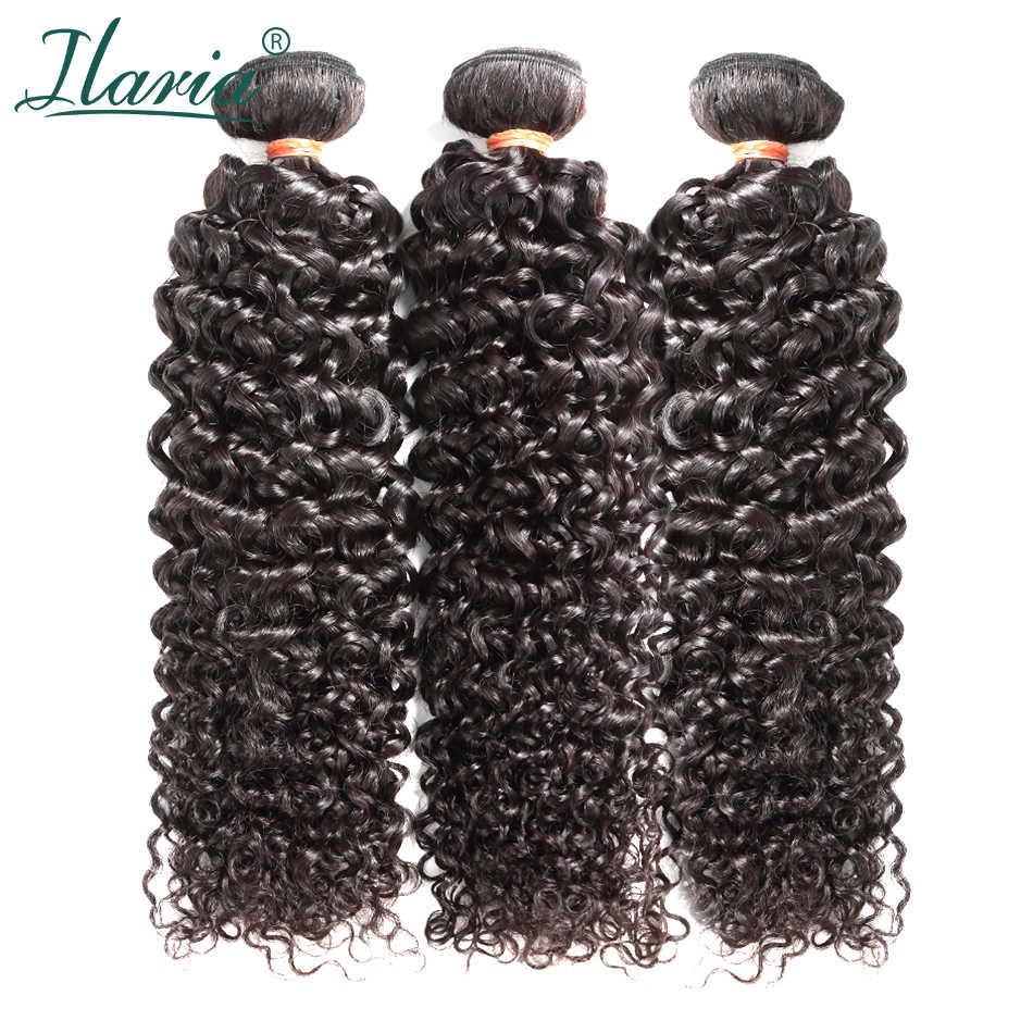 "ILARIA HAIR 8A Mink Brazilian Afro Kinky Curly Virgin Hair 3 Bundles 10""-30""Natural Color 100% Curly Human Hair Weave Bundles"