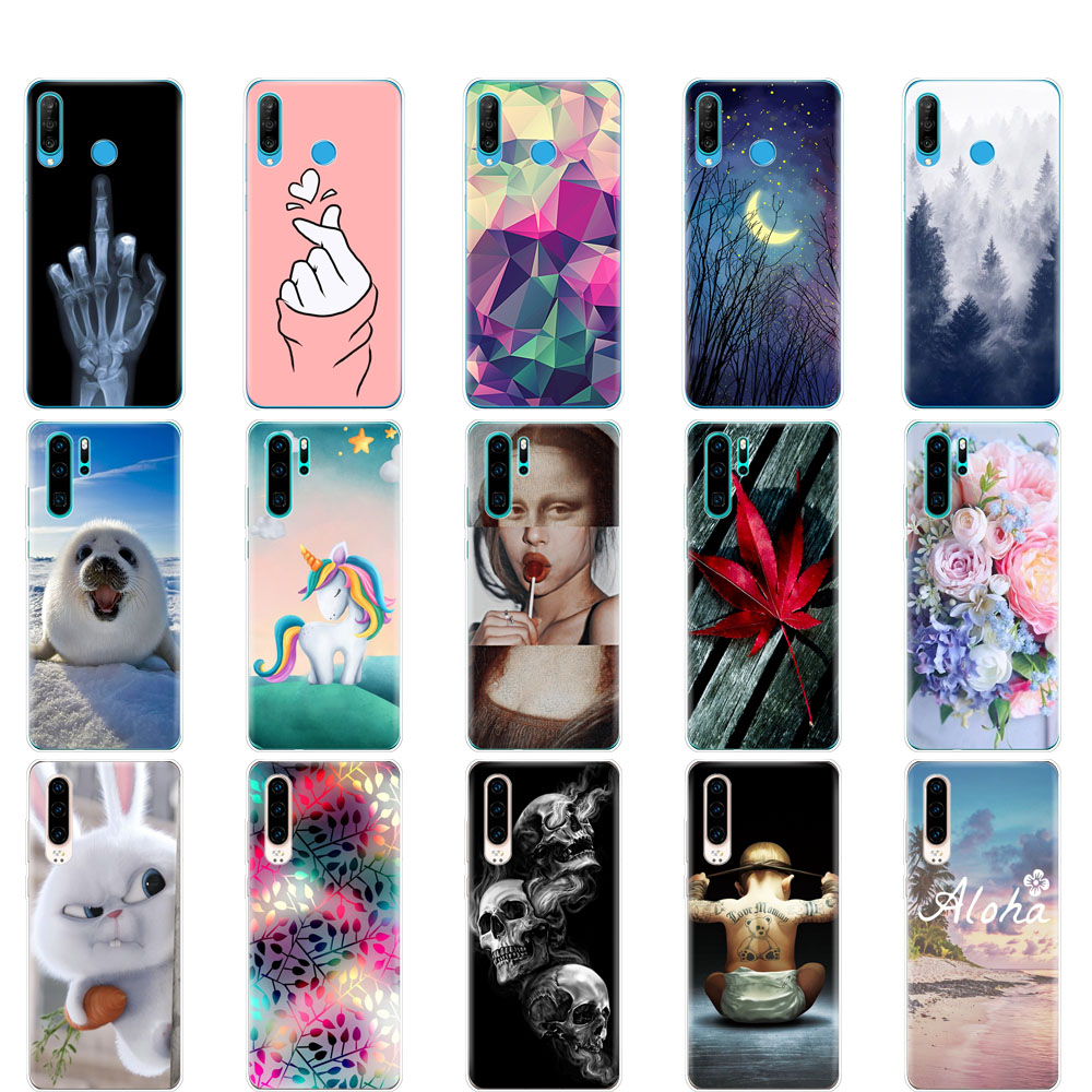 For Huawei P30 Pro Case Huawei P30Pro Silicone Soft TPU Phone Back Cover On Huawei P30 Pro VOG-L29 ELE-L29 P 30 Lite Case bumper