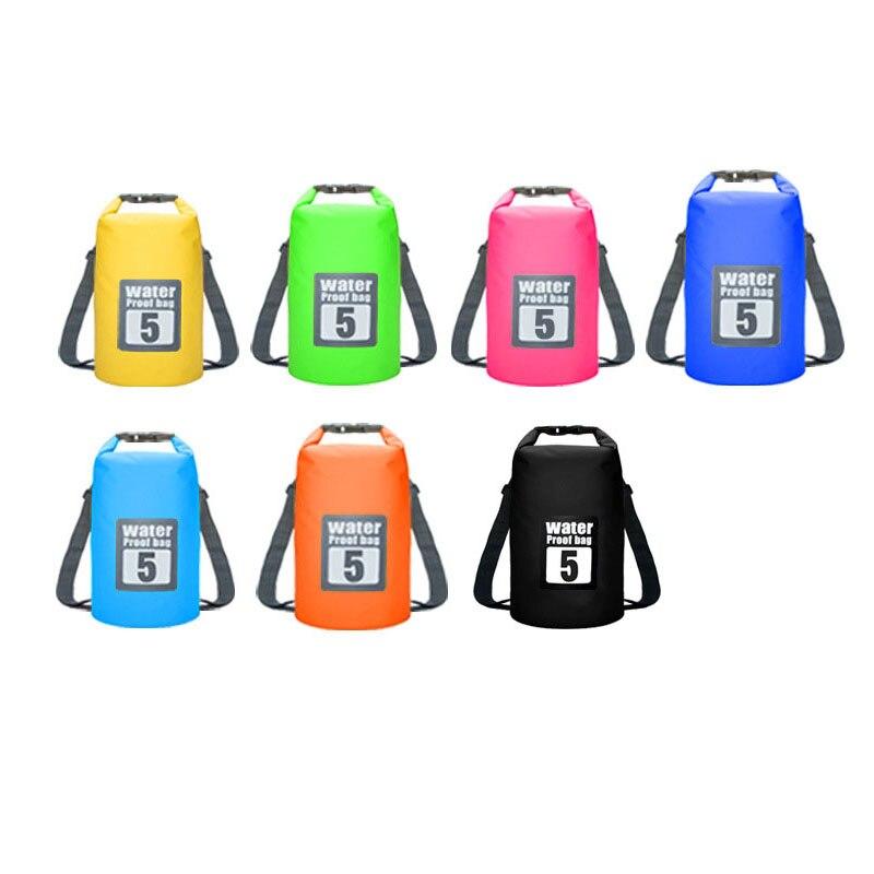 Waterproof Swimming Backpack Bag 5L 10L 15L 20L Portable Ultralight Waterproof Floating Bag Outdoor Camping Storage Dry Sack Bag 4