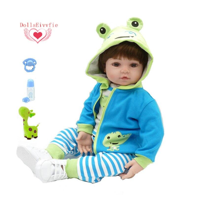 Bebês renascer boneca 47 cm novo silicone artesanal reborn bebê lifelike adorável menino bonecas menina criança silicone menol boneca