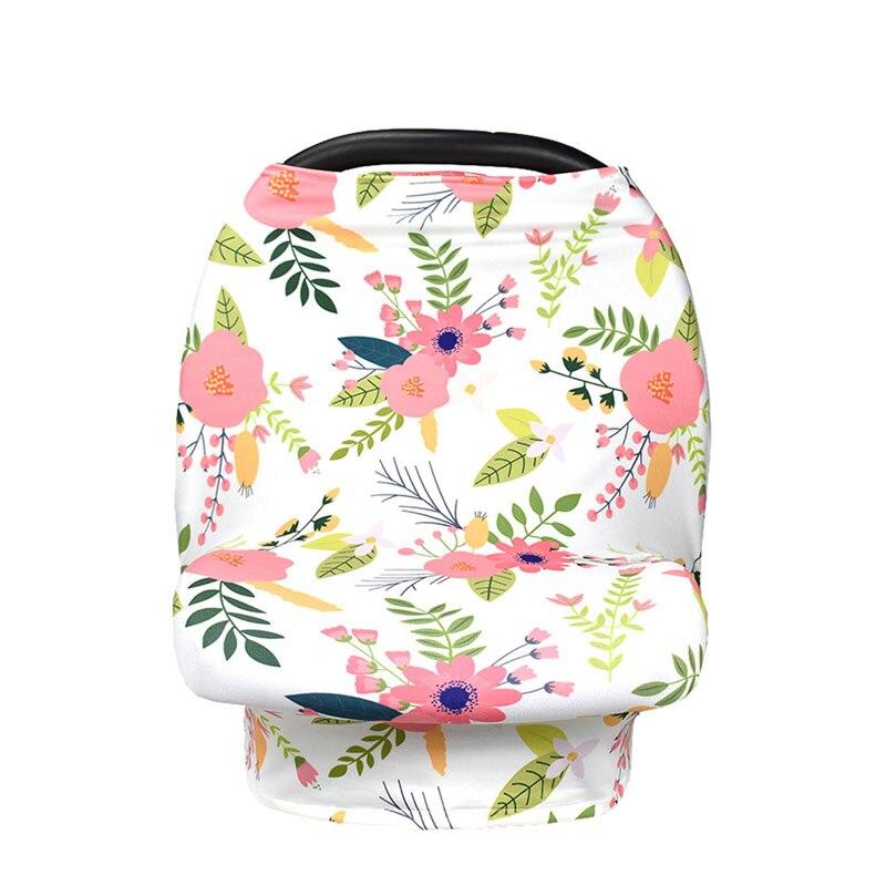 Fashion Newborn Feeding Nursing Cover Breastfeeding Scarf Floral Baby Car Seat Cover Canop