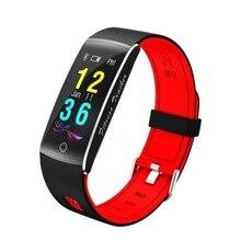 Pulseira Colorida-tela inteligente Rastreador De Fitness Heart Rate Monitor de pressão arterial Sono rastreador Pulseira para Android IOS