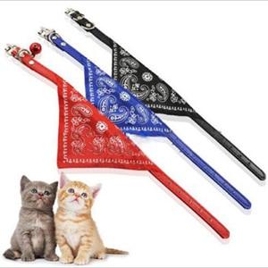 Adjustable Pet Dog Cat Puppy Neck Collar Harness with Scarf Bandana Collars MT