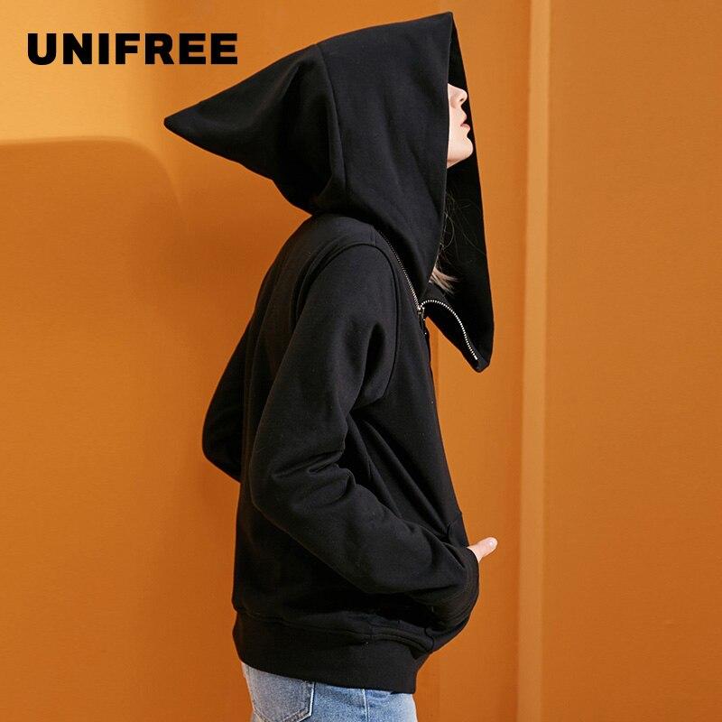 UNIFREE fashion hoddies women casual cotton witch long sleeve jacket  UQ174300098
