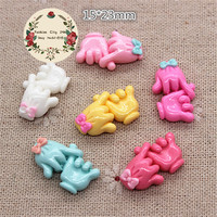 20pcs Mix Colors Kawaii Hook Finger Resin Miniature Art Flatback Cabochon DIY Decorative Craft Scrapbooking,15*23mm