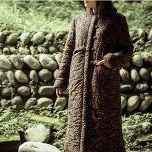 Хлопок лён длинная принт, дизайн, в зима женское печать большой — мягкий одежда