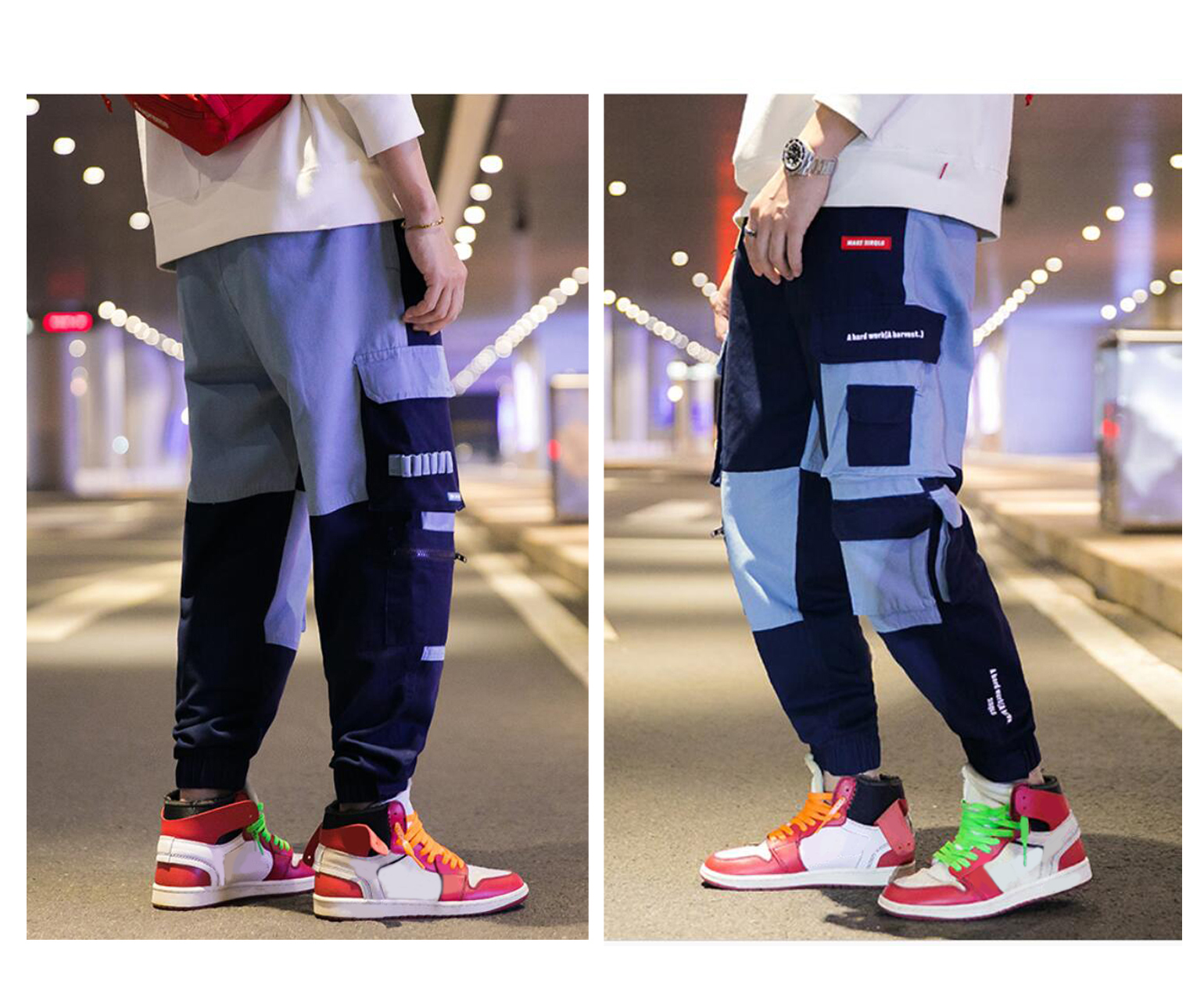 Men's Casual Street Fashion Trousers Cargo Combat Pants Casual Pants For Adolescents And Young Boys, Multi Pockets Work Pants