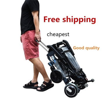 New product aluminum medical handicapped equipment folding lightweight electric wheelchair for disabled people