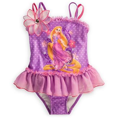 Retail Girl Princess swimsuit Bikini One-Piece Swimwear for children beach wear bathing suit summer UPF 50+ for 0-1 Year RT90