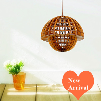 Modern country exquisite wood art Pendant Lights Creative handmade indoor ply-wood chips E27 LED lamp for stairs&corridor BT163 2016 creative novelty blue shade ply wood chips chandelier e27 led floral lamp indoor lamp for stairs