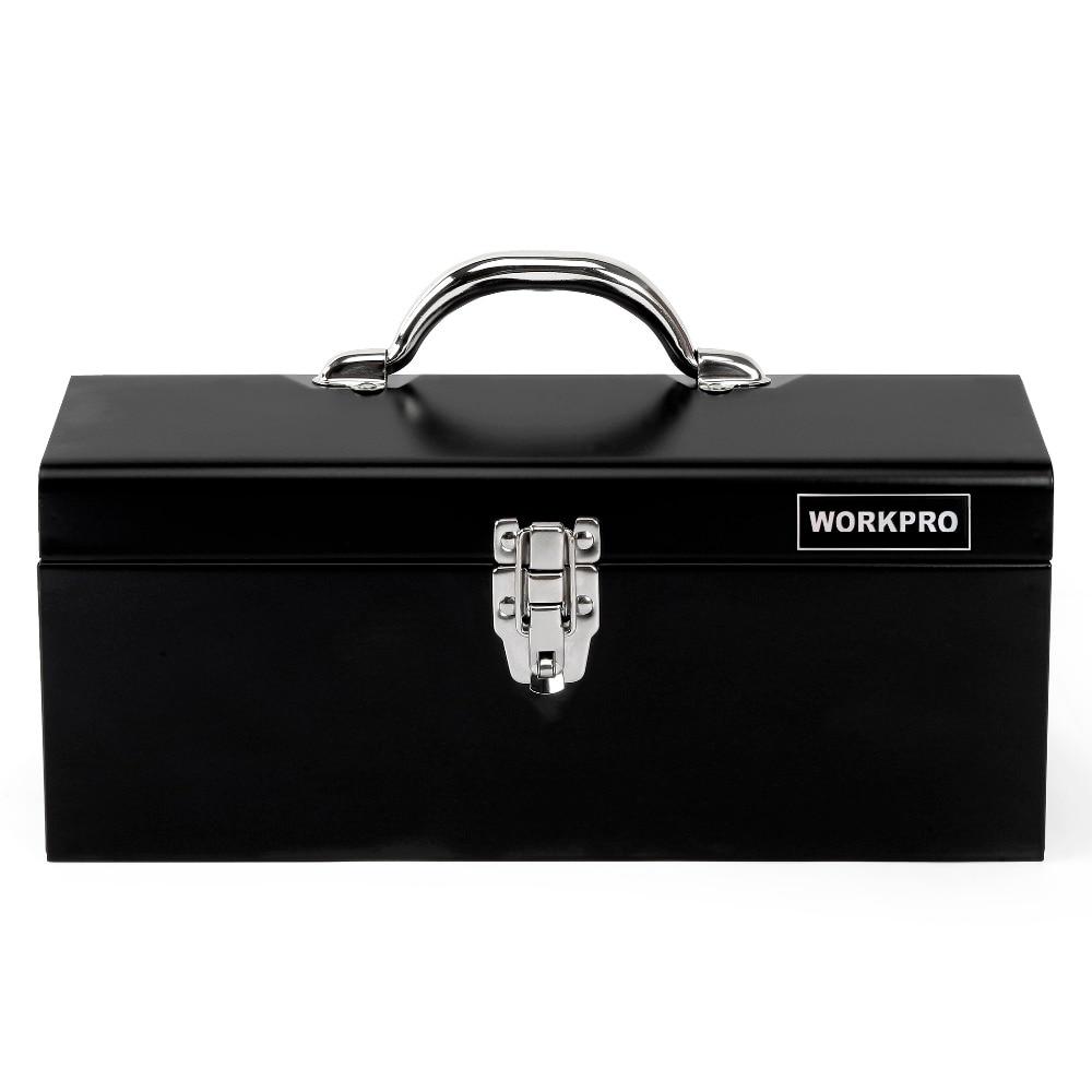 Купить с кэшбэком WORKPRO 160PC Home Tool Set Metal Tool Box