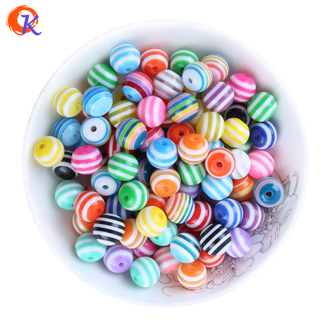 Cordial Design 12MM 250Pcs/Lot Colorful Mix Colors Resin Stripe Beads For Jewelry Making Style Supplier CDWB 517878