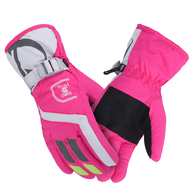 AONIJIE Women Ski gloves Windproof Waterproof Warm Cycling Ski Snow Snowmobile Motorcycle Snowboard Skiing Gloves Winter Outdoor