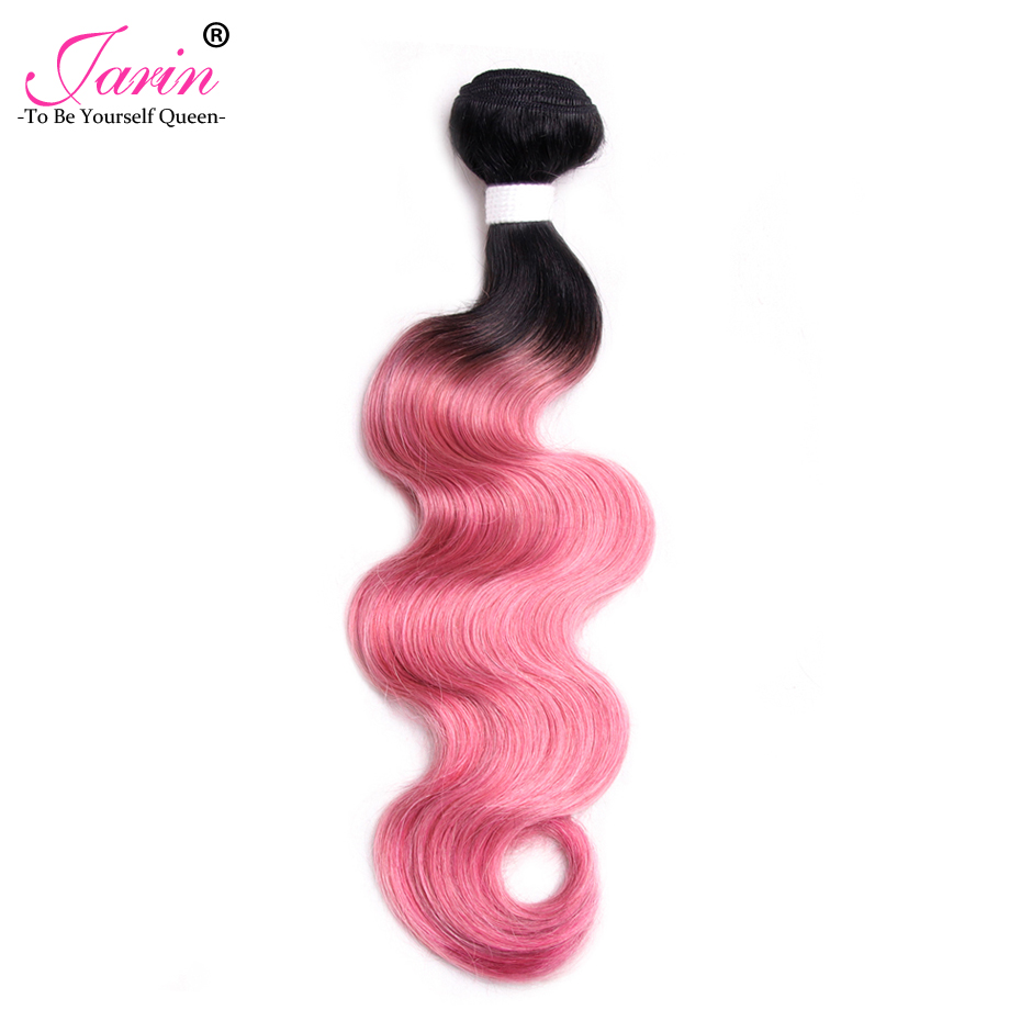Jarin Ombre Pink Malaysian Body Wave Hair 1 Bundle 100% Human Hair Weaving Two Tone Color Fashion 2018 Free Shipping Can Buy 3/4 ...