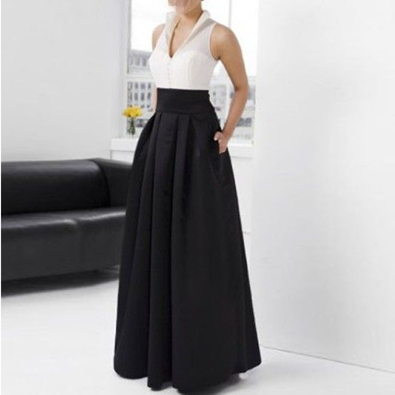 Formal Long Black Skirt