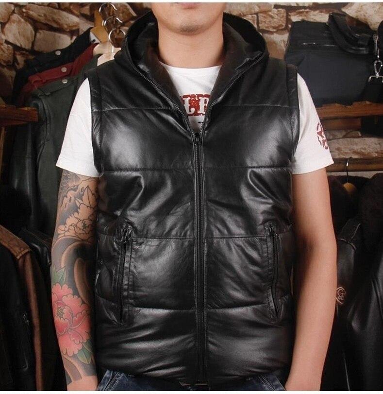 Darmowa wysyłka. DHL Brand new man zimowe ciepłe miękkie kurtka z owczej skóry, męskie 100% kurtka z prawdziwej skóry. odpinany bawełna płaszcz w Płaszcze ze skóry naturalnej od Odzież męska na  Grupa 2